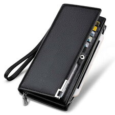 Long Fashion Leather Wallet Large Compartment Phone Money Multi Card Slot Clutch