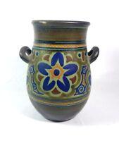 Antique Rare 1927 Rembrandt Nijmegen Heligs Double Handled Pottery Vase