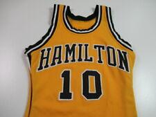 VINTAGE Hamilton Basketball Jersey Stitched Wilson Yellow Black White Size 38