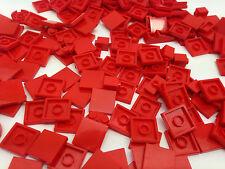LEGO - 100 ROUGE Pièces Pièces , Plaque GRATUIT Brique Séparateur