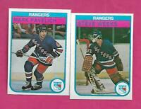 1982-83 OPC RANGERS WEEKS RC + MARK PAVELICH RC  NRMT-MT  CARD (INV# C2392)
