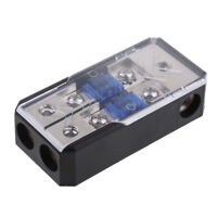 2 Way Power Distribution Block 4//8 AWG Gauge AGU Fuse Holder 60Amp 2in 1out