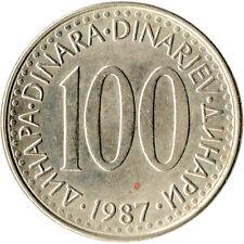 Yugoslavia, 100 Dinar, 1987 Copper-nickel   #WT1352