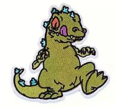 """Reptar from The Rugrats TV Series Cartoon 4.25"""" Tall Embroidered Patch"""