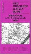 MAP OF GLASTONBURY & THE SOMERSET LEVELS 1897