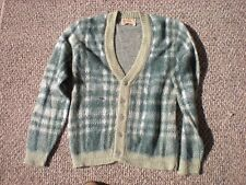 VTG JANTZEN GREEN MOHAIR WOOL CARDIGAN SWEATER MEN'S M MEDIUM KURT COBAIN GRUNGE