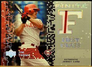 2003 UD Finite First Class FE-JT JIM THOME Philadelphia Phillies Jersey NM-MT+
