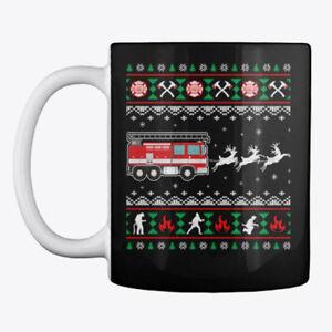 Merry Christmas Firefighter Fireman Ugly Mug