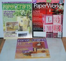 Lot of Three Paper Crafts Magazines Paper Works Feb 2007 Oct 2005 April May 2005