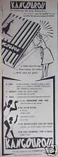 PUBLICITÉ 1958 KANGOUROU CRÉATEUR DU SLIP MASCULIN SOUS-VÊTEMENTS - ADVERTISING