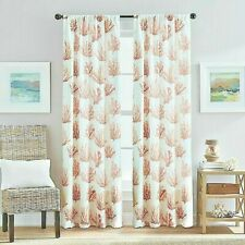 New Listing2 Destinations Cocoa Beach Rod Pocket Window Curtain Panels Coral Reef Nautical