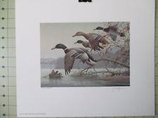 1991 WEST VIRGINIA DUCK STAMP PRESS PROOF of MALLARDS FLYING