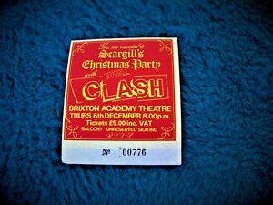 THE CLASH Rare ticket stub, 6th DEC 1984 Scargills Xmas Party. Brixton Academy