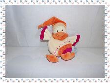 M - Doudou Semi Plat Banjo l'Oiseau Capes Orange Rose ......Doudou et Compagnie