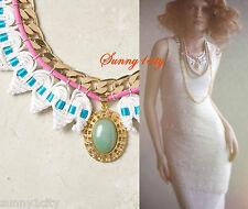 NEW Anthropologie Threaded Alarice Necklace Gorgeous handmade! $398 Very Rare!