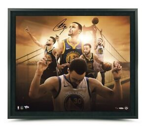 """Stephen Curry Autographed 20X24 Framed Photo """"Golden State"""" Warriors /50 UDA"""