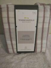 Threshold Plaid Flannel Sheet Set Queen