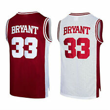 Bryant #33 Lower Merion High School Basketball Jersey Tank Stitched Maroon Color