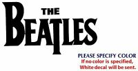 beatles Metal Music Rock Graphic Die Cut decal sticker Car Truck Boat Window 7""