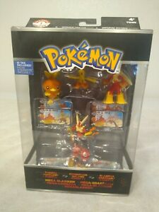 Pokemon Trainer's 1 Choice 4 Figure Megablaziken Flemmli Jungglut Lohgock