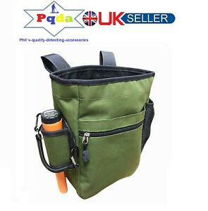 Metal Detecting Detector Large Heavy Duty Finds Accessory Bag Pouch Only. GREEN.