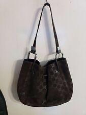 Gucci Bucket Bag Guccissima GG Suede Leather Handbag Shoulderbag Tote Purse