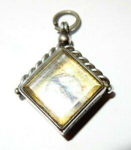 Solid Silver compass watch, fob, Birmingham 1912.
