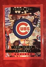 1995 CHICAGO CUBS  FOLDOUT POCKET SCHEDULE  REVISED
