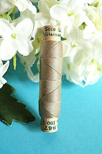 "1078TER / Superb Coil Wire Silk Gutermann Laska "" Beige "" N° 867"