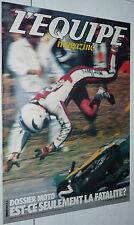 EQUIPE MAGAZINE N°43 1980 DOSSIER MOTO FOOTBALL OM MARSEILLE RUGBY