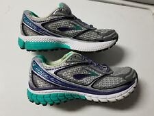 WOMENS BROOKS GHOST 7 G7 RUNNING SHOES 6.5  GRAY & TURQUOISE RN 1201611B953