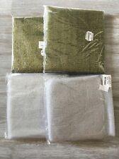 Mixed Lot of Decor Net Fabric Silver Gold/Green Metallic 12yds total