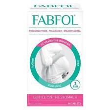 FABFOL PRECONCEPTION PREGNANCY BREASTFEEDING 56 TABLETS IODINE, FOLIC ACID, IRON
