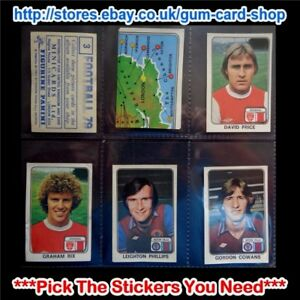 PANINI FOOTBALL 79  (CARDS 1 TO 99) (G) ***PICK THE STICKERS YOU NEED***