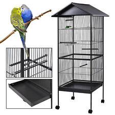 """61"""" Iron Parrot Finch bird Cage Play Top Pet Supplies w/Perch Stand Two Doors"""
