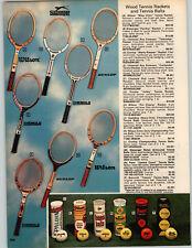 1977 PAPER AD 3 PG Wilson Chris Evert Billie Jean King Bjorn Borg Tennis Rackets