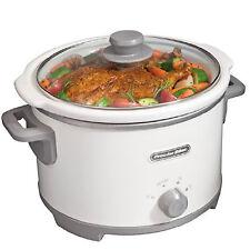 Slow Cooker Crock Pot 4 Quart White Portable Cooking Electric Crockpot Manual