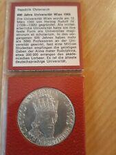 50 schilling österreich silber 600 Jahre Uni Wien 1965