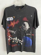 Vintage Star Wars All Over Print Shirt Size Medium