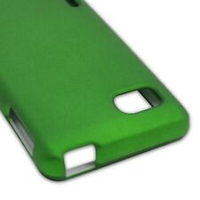 Green Case For LG Optimus F3 LS720 Hard Rubberized Snap On Phone Cover