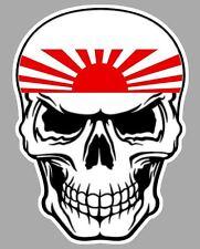 TETE DE MORT JAPON JAPAN KAMIKAZE AUTOCOLLANT STICKER 15cmX12cm SA168