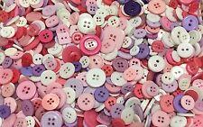 Princess Mix Buttons 50pcs Assorted Shapes & Sizes Bulk Lot Aussie Seller