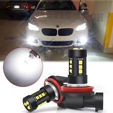 2x H8 H11 White LED Fog Light Bulbs For BMW 320i 328i 335i 525i 528i 535i xDrive