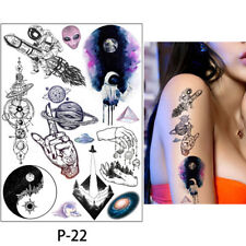 Space Scifi Rockets  Temporary Tattoo Kids and Adults Fake Tattoos UK
