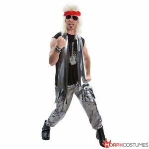 Mens Glam Rock 1970s 1980s Fancy Dress Costume L XL 70s 80s Rocker Rockstar Star