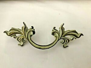 "Vintage Pull French Provincial Solid Brass True Vintage 5 3/4"" 3"" Center"