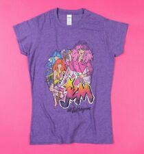 Official Women's Purple Marl Jem and the Holograms Band Fitted T-Shirt