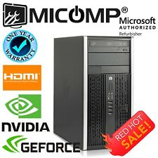 Gaming Computer PC Nvidia GTX 1050 Quad Core i7 16GB 500Gb Windows 10 WiFi HDMI