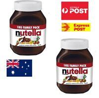 1KG NUTELLA Jar Ferrero Hazelnut Chocolate Cocoa Spread Pantry Snack Time Fun