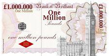 One Million Pound Joke Novelty Banknote - Great Prank 4 Birthday & Xmas Cards